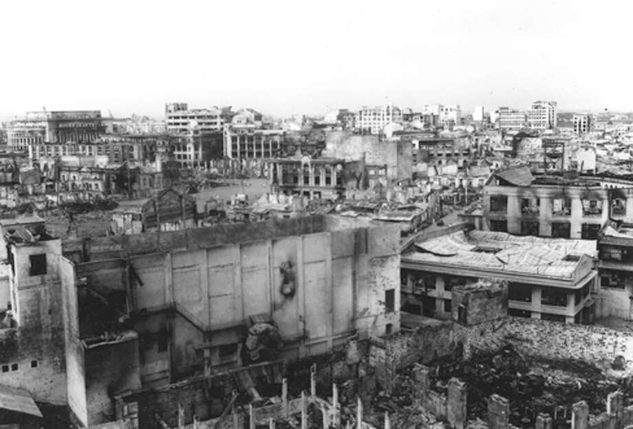The wartime damage to the capital of The Philippines following its liberation from Japanese occupation during World War II is clearly visible in this scene of Manila. Photo: Courtesy Photo