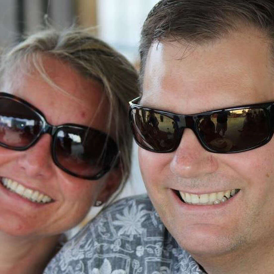 A picture of Susanne Hilgefort, left, and her husband, Michael Mydlarz is posted on Hilgefort's Facebook profile.
