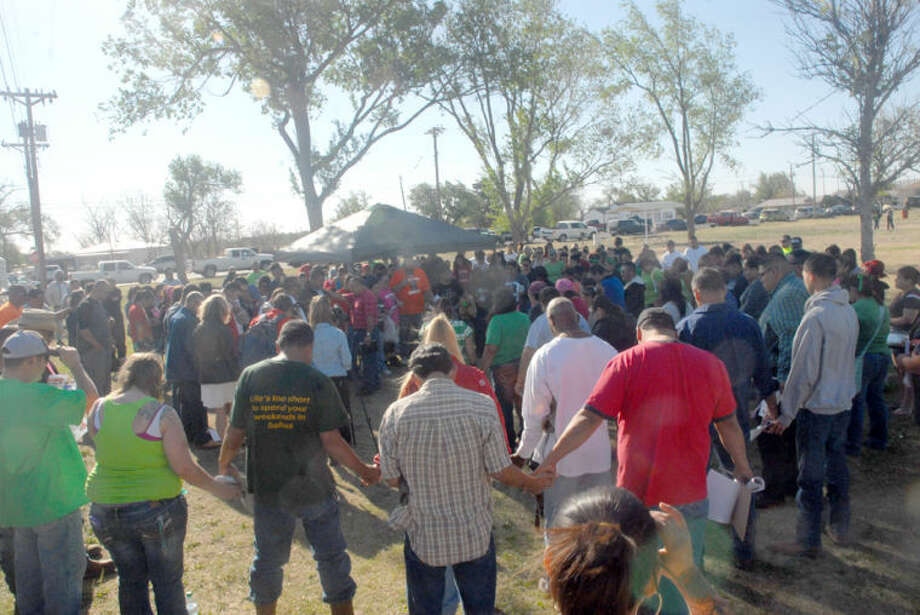 Homer Marquez/Plainview HeraldHundreds of area volunteers gathered at Broadway Park on Saturday to search for Andrew Pena, who has been missing for more than a month. The current search targets the area along FM 400, which covers 84 miles in Swisher, Hale and Lubbock counties.
