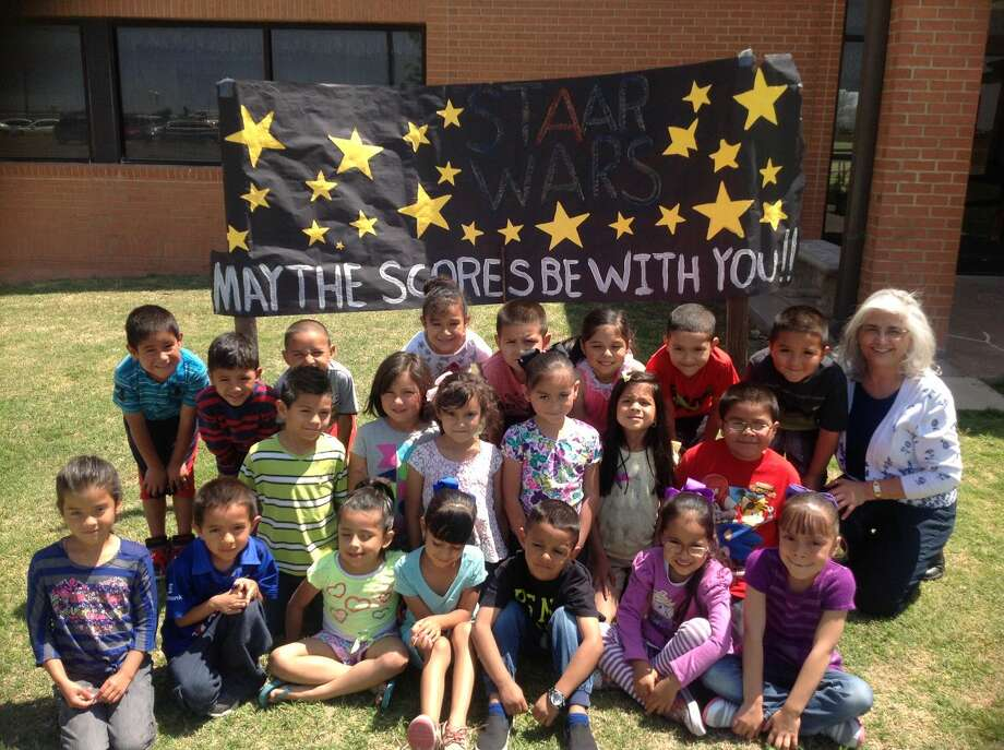 "STAAR FIGHTERSPlainview ISD PhotoScores of students throughout Plainview public schools have been busy the past two days challenging the STAAR assessment test. To help encourage students to do their best on the exams, schools posted signs and held pep rallies. Following the ""Star Wars"" theme in keeping with the name of the assessment exams, Hillcrest Elementary erected a sign urging ""May The Scores Be With You."" Gathering around the message on Tuesday are teacher Elizabeth Hernandez and her students. On Tuesday, Staar testing covered mathematics for grades 3-4 and 6-7 and social studies for eighth grade. On Wednesday, Staar tests were given in reading for grades 3-4 and 6-7 and science for grades 5 and 8."