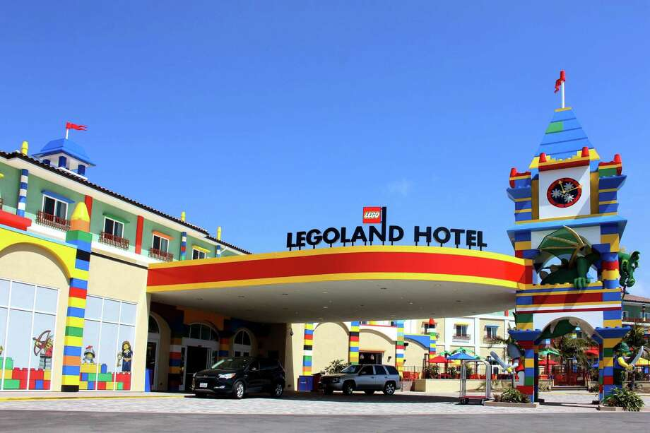 The Legoland Hotel outside the entrance to the theme park in Carlsbad, California. Photo: McClatchy-Tribune News Service / Fresno Bee
