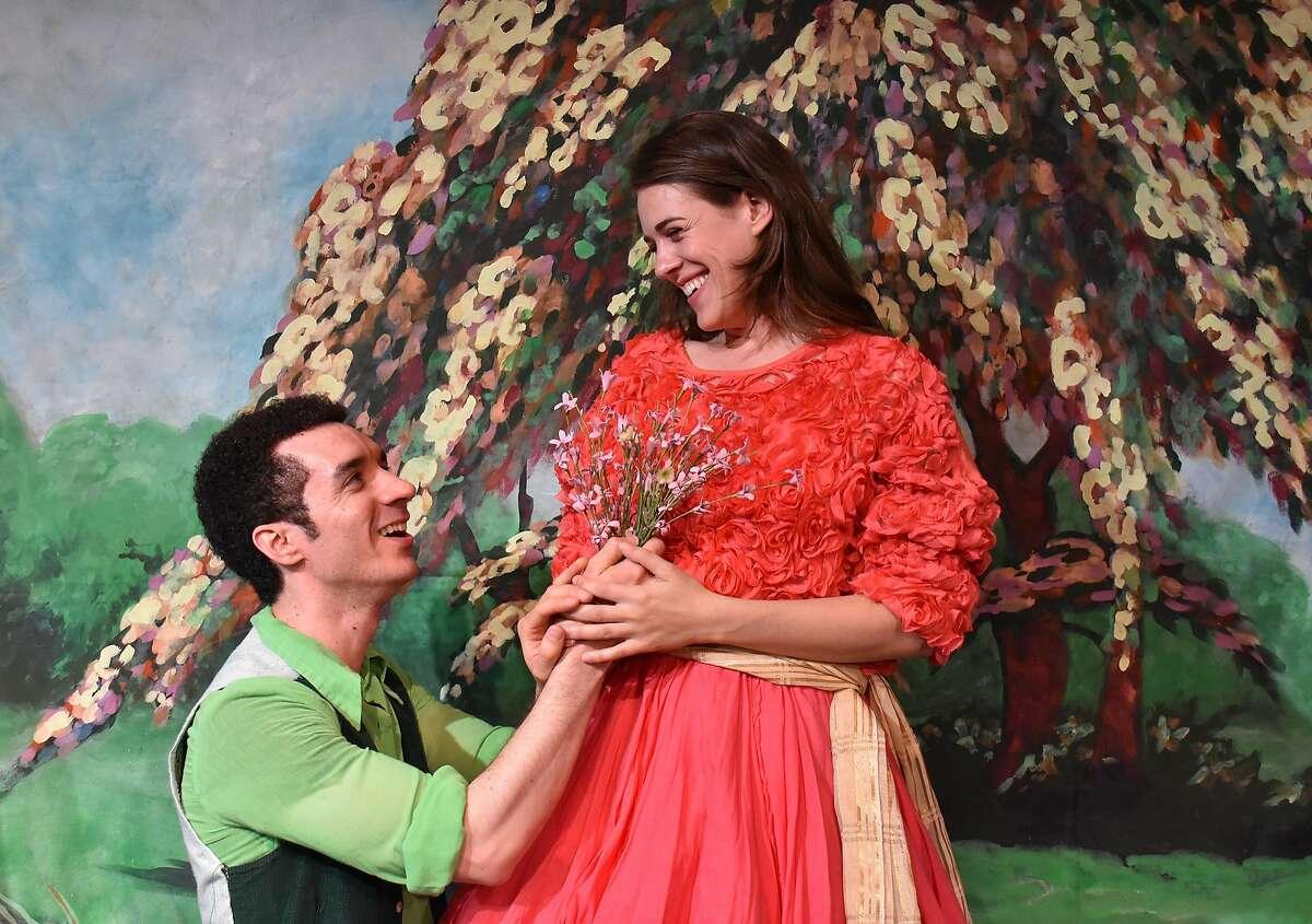 Florizel (Davern Wright, left) and Perdita (Rosie Hallett).