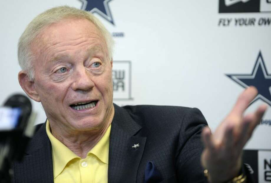 Dallas Cowboys owner Jerry Jones at the pre-draft news conference at Valley Ranch in Irving Tuesday. Photo: Max Faulkner/Fort Worth Star-Telegram/MCT