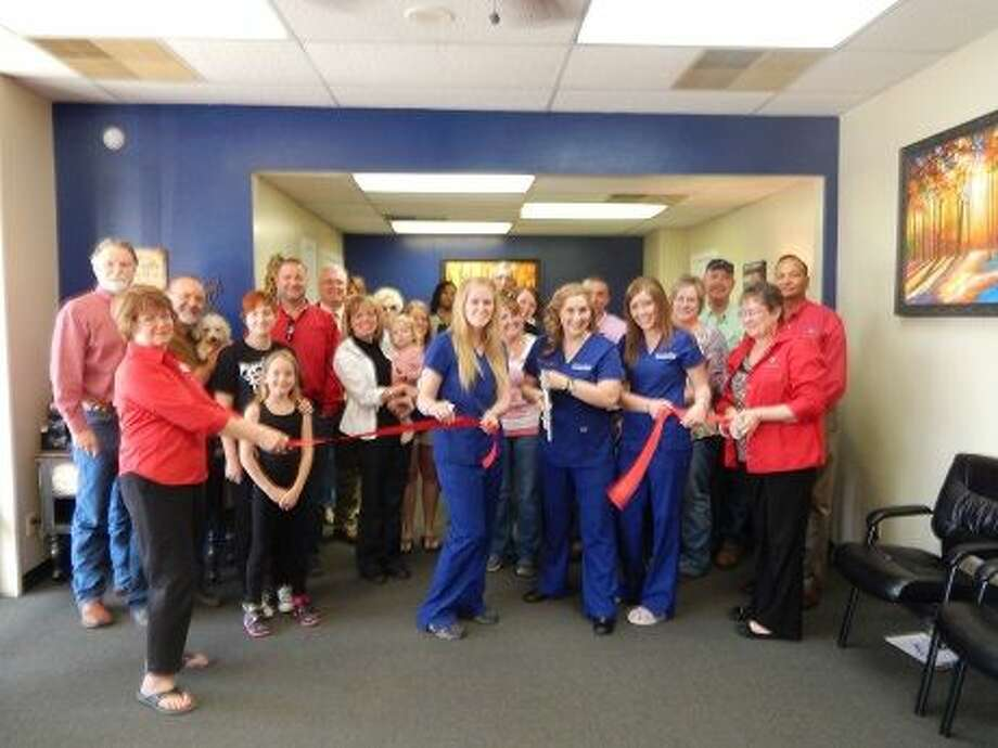 The staff of Plainview Dermatology handle ribbon cutting duties during a formal ceremony staged Friday by the Plainview Chamber of Commerce Ambassadors. The facility is at 2215 W. Fifth, next to John McGavock Insurance, and is a satellite office of Dr. Jeffrey Gunter, MD, FAAD, and will be managed by Beth Perry, PA-C. Its website is www.plainviewderm.com, where you can go to book an appointment. They specialize in conditions of the skin, hair and nails and accept most major insurance.