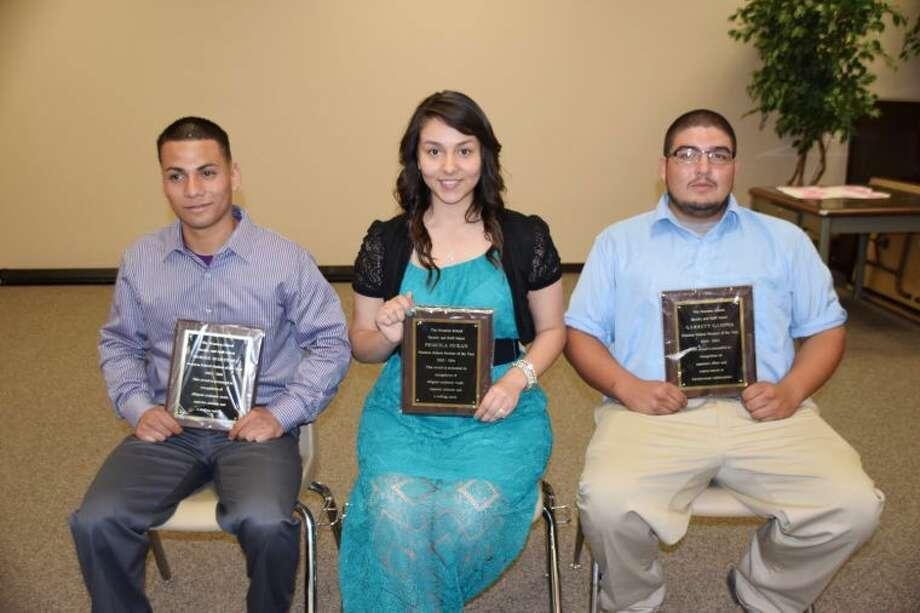 Jan Seago/Plainview ISDHouston School citizenship awards were presented to Moises Martinez, Male Student of the Year; Priscila Duran, Female Student of the Year; and Garrett Campos, Phoenix Award.