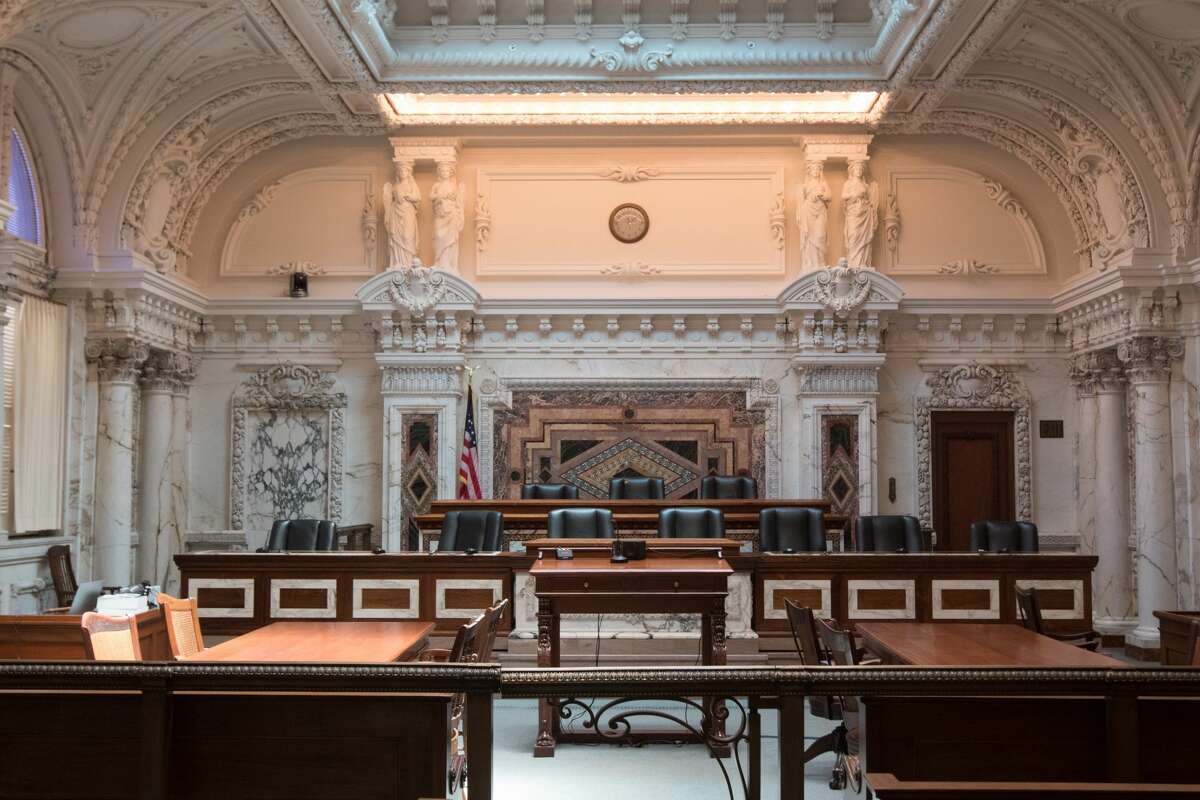 Courtroom one at the 9th Circuit Court of Appeals, located at the corner of 7th and Mission Streets on July 13, 2016.