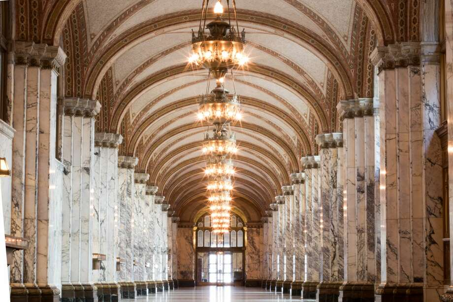 The first floor hallway that lead to the former main San Francisco post office in the 9th Circuit Court of Appeals building, located at the corner of 7th and Mission Streets. Photo: Douglas Zimmerman