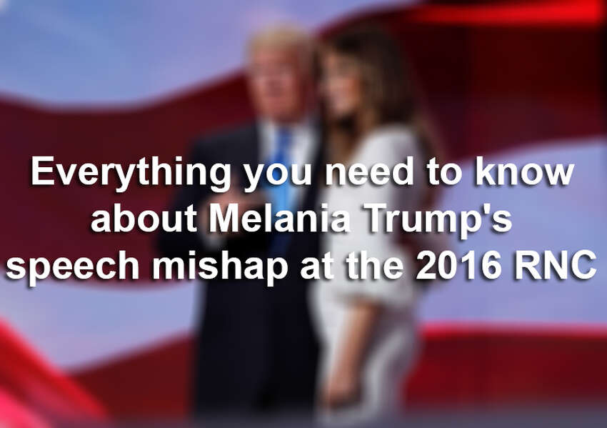 Everything you need to know about Melania Trump's speech mishap at the 2016 RNC