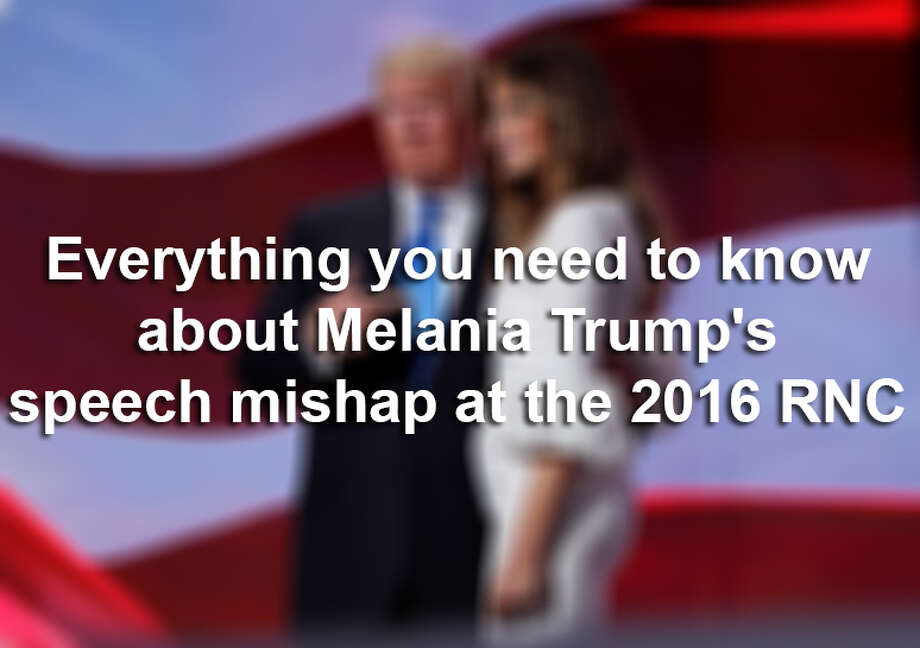 Everything you need to know about Melania Trump's speech mishap at the 2016 RNC Photo: Carolyn Kaster/Associated Press