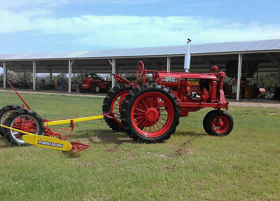 A 1937 F-20 Farmall with a 1939 McCormick Deering #9 Mower are examples of the antique farm equipment that will be on display Saturday at the 23rd annual Antique Tractor Show, sponsored by the Texas Plains Two-Cylinder Club. The exhibition is open to the public at no charge from 8 a.m. to 6 p.m. Saturday at the Hale County Farm & Ranch Museum, at Exit 36 on I-27 at the south edge of Hale Center.