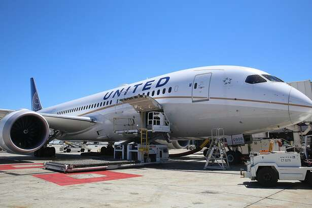 View of a 787 United aircraft at SFO airport on Tuesday, July 19, 2016,  in South San Francisco, Calif.  United airlines has added five international routes out of SFO airport since May.
