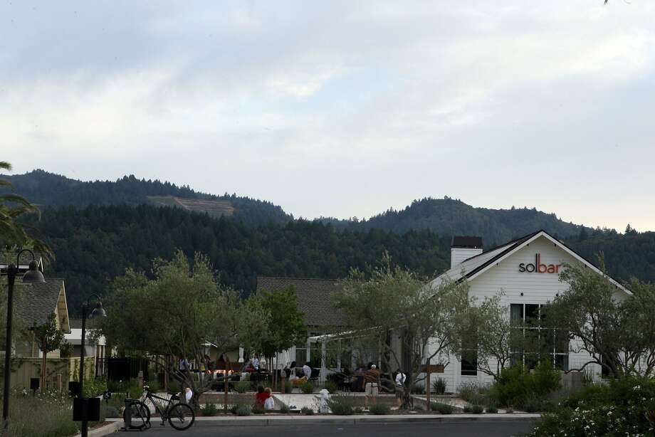 Solbar is the restaurant at the Solage resort in Calistoga. Photo: Liz Hafalia, The Chronicle