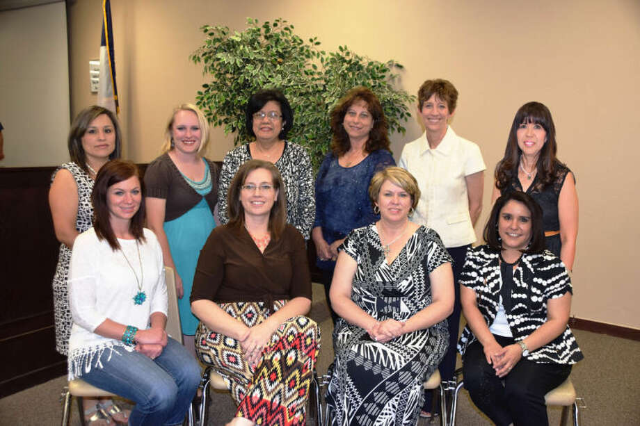 Jan Seago/Plainview ISDEducators of the Year for 2013-14 include Cailey Stoerner (seated left), Misty Johnson, LaDeanna Whitfill, Kelly Mendoza, Andrea Morales (standing left), Carrie Huber, Frances Alvarez, LaTressa Waldrip, Nancy Lewis and Florinda Hayes Not shown are Nicole Abell and Alicia Ramirez.
