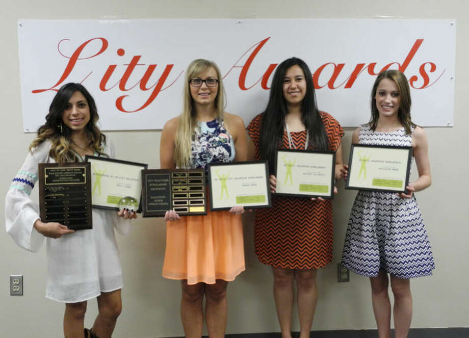 Junior Literacy Council award winners: Emily Flores (left), Hannah Smith, Destiny Villanueva and McAllister Moore Photo: Gail M. Williams | Plainview Herald