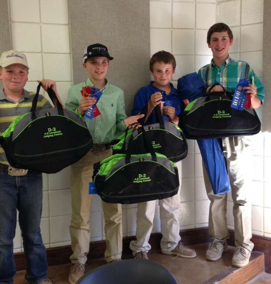 Hale County 4-H's Intermediate Livestock Judging Team, composed of Landry Miller, Cash Horton, Blaise White and Jack Dawson, took first place overall in the District 2 contest. As a team, they finished first in reasons, first in swine, second in beef and second in sheep and goats.