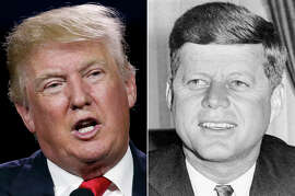 Donald Trump and John F. Kennedy