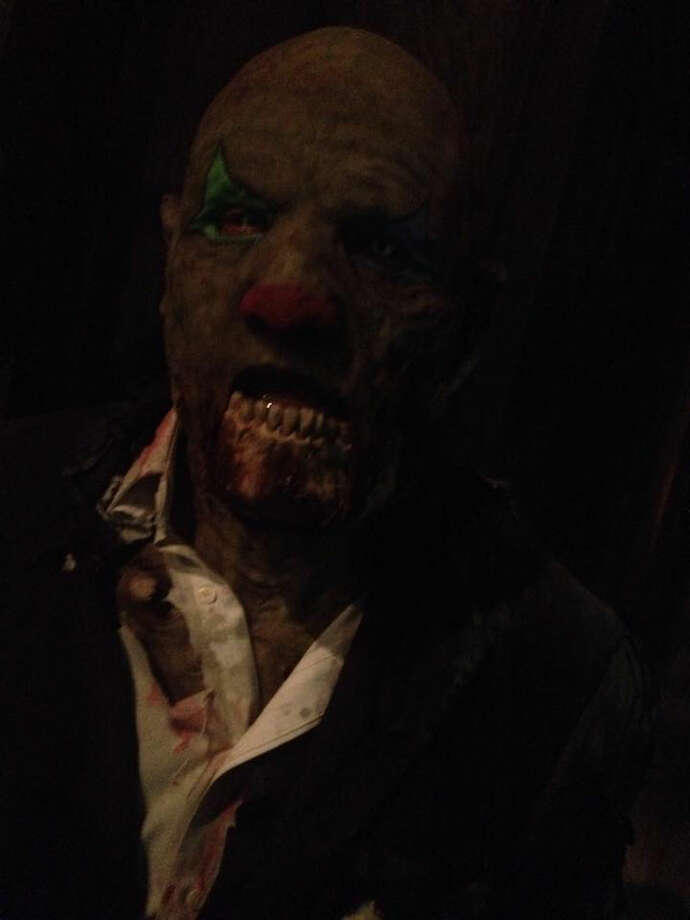 A zombie clown from The Blackness haunted house in Plainview Photo: Facebook Photo
