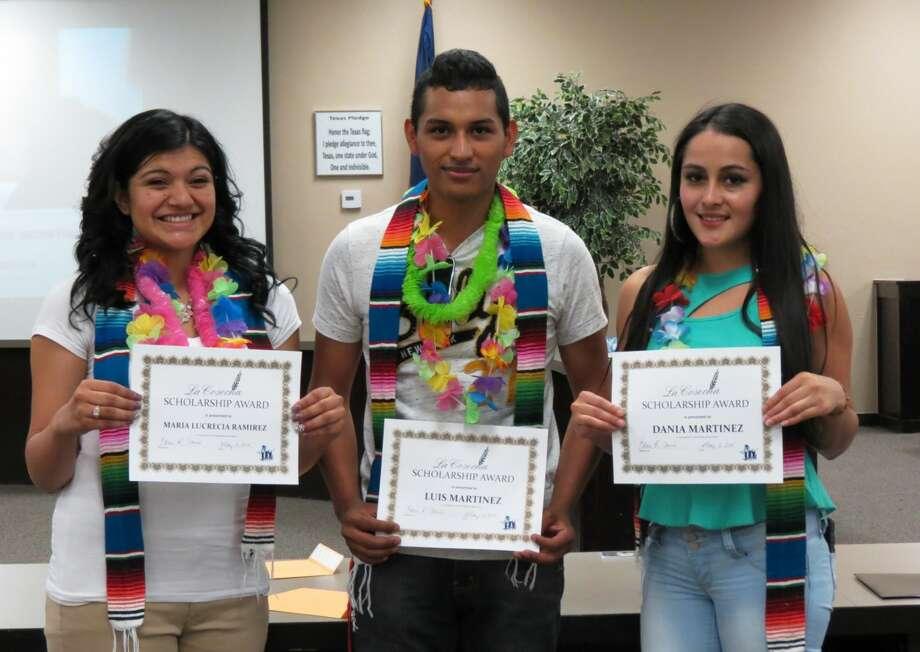 New ScholarshipAnita Garcia/Plainview ISDNow in its inaugural year, the La Cosecha (the Harvest) Scholarship, established by the Plainview ISD Migrant Education Department, honors the academic achievement of migrant students and supports goals for higher education. The first recipients of these $500 scholarships are Maria Lucrecia Ramirez (left), Luis Martinez, and Dania Martinez.