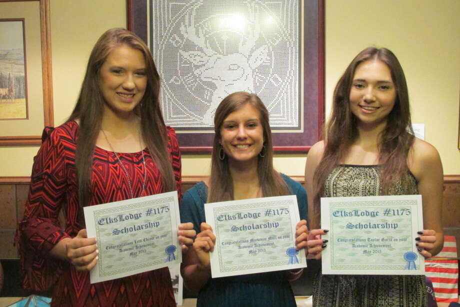 Elks ScholarshipsJana Cannon/Plainview Elks LodgePlainview Elks Lodge has awarded scholarships to Letti Cheyne (left), a student at West Texas A&M University; and Plainview High School seniors Mackenzie Mull and Taylor Garza.