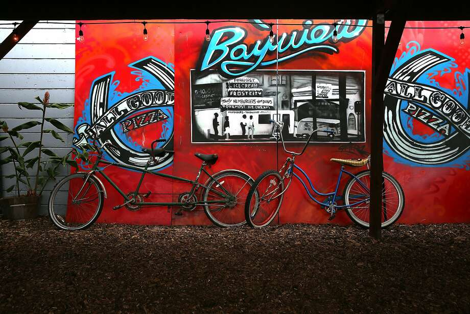 A mural seen at All Good Pizza in the Bayview. Photo: Liz Hafalia, The Chronicle