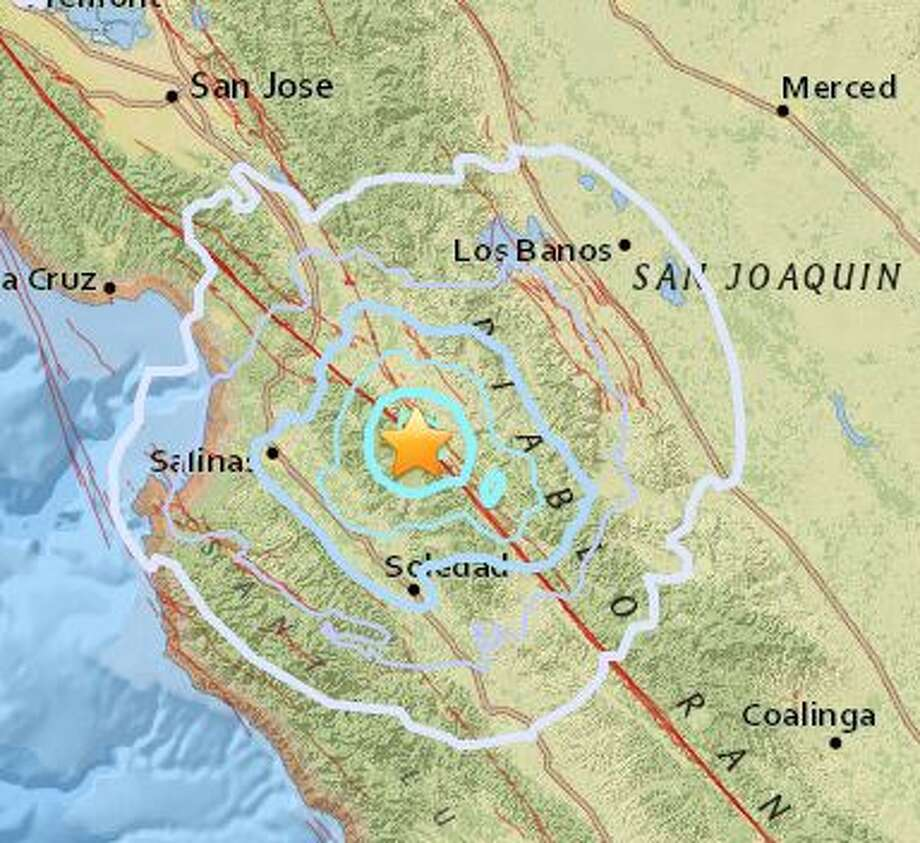 Another Earthquake Hits Along San Andreas Fault East Of Monterey - San jose earthquake map usgs