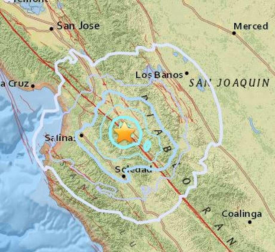The USGS recorded Tuesdayu0027s quake south east