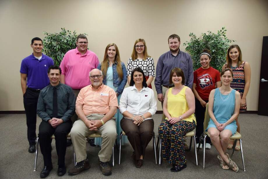 Honor graduates standing behind their inspiring teachers are Ethan Anderson (standing left) with Michael Varner (seated left), Christopher Askins and Mikayla Henderson with Walter Wright, Heather Bozeman with Kelley Bozeman, Ty Bain with Melody Hoglan, Bianca Berumen with Kristy Jernigan, and Dusti Boedeker with Jonathan King (not shown).