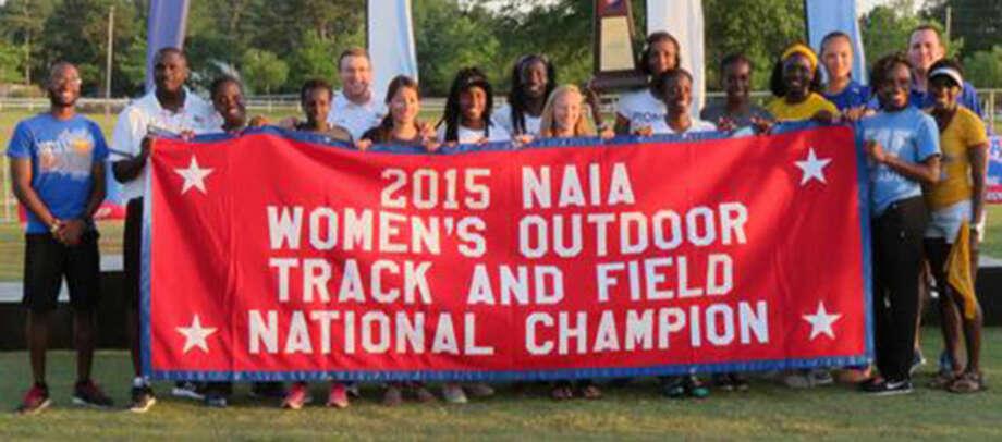 The Wayland Baptist University women's track and field team won the NAIA national championship Saturday. Photo: Courtesy Photo