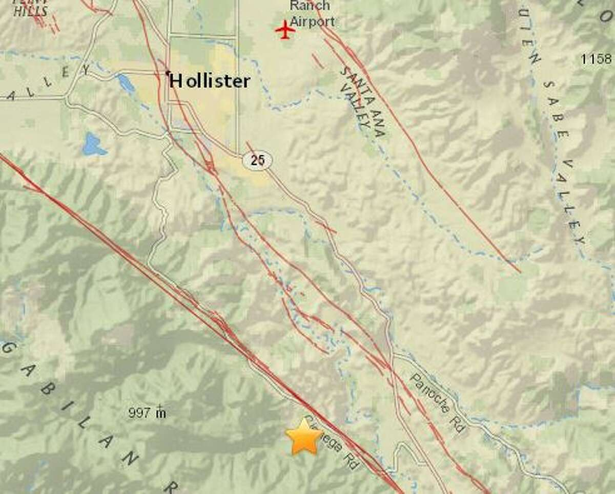 The USGS reported the quake south east of Hollister.