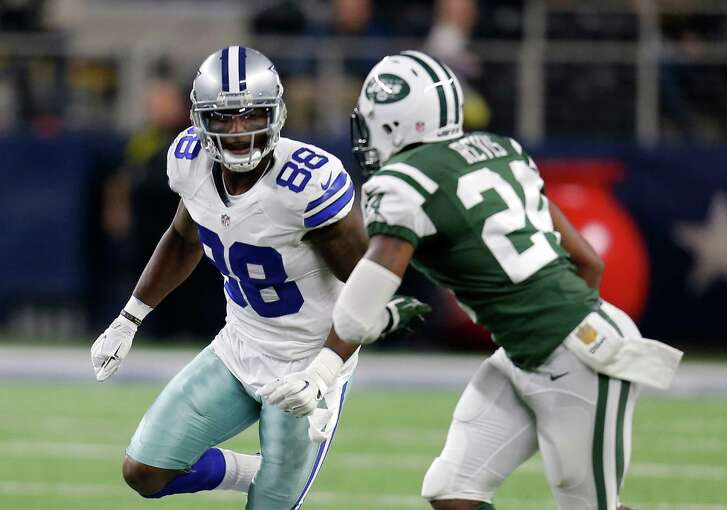 In this Saturday, Dec. 19, 2015 file photo, Dallas Cowboys wide receiver Dez Bryant (88) runs a route against New York Jets cornerback Darrelle Revis (24) in the first half in Arlington. Dez Bryant faces a lawsuit from his former landlord over allegations of more than $60,000 in damages to a house that the Dallas Cowboys receiver leased, Wednesday, June 22, 2016. The civil suit was filed last week by Texas state Sen. Royce West, an attorney who defended Bryant in a domestic violence case involving the 2014 All-Pro's mother. West seeks damages of between $100,000 and $200,000.