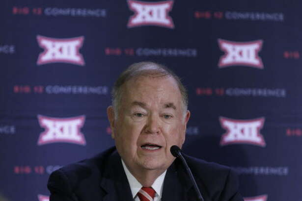 University of Oklahoma President David Boren speaks to reporters after the second day of the Big 12 sports conference meetings in Irving, Texas, Thursday, June 2, 2016. (AP Photo/LM Otero)