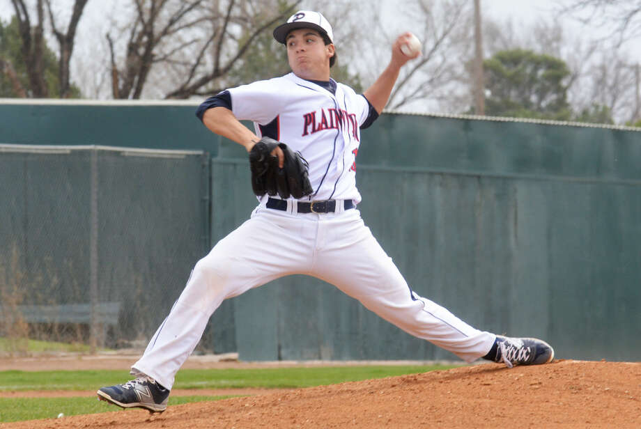Plainview senior Brent Silvas was voted the Most Valuable Player in District 4-5A this season. Silvas notched six wins and three saves as a pitcher and batted .350 and led the team with 32 runs batted in as the No. 2 hitter in the batting order. Photo: Skip Leon/Plainview Herald