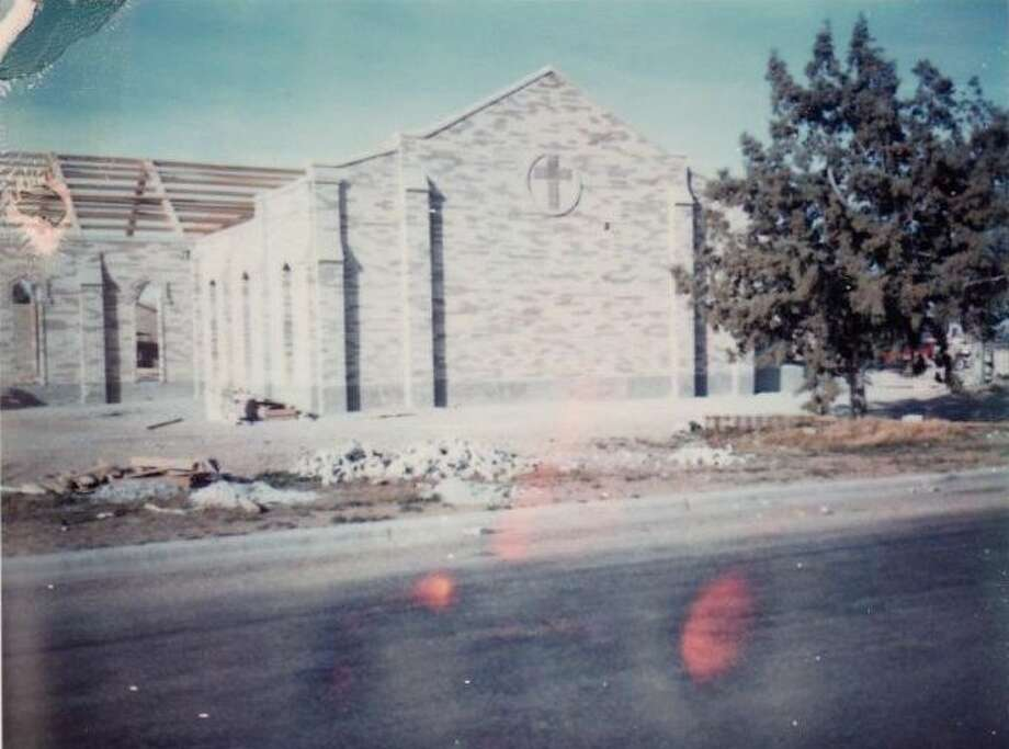On June 22, Plainview's Sacred Heart Church will celebrate 50 years as a Catholic institution for the community. Pictured above is the church, located at 2805 N. Columbia St, during construction in the 1970s. Photo: Courtesy Photo