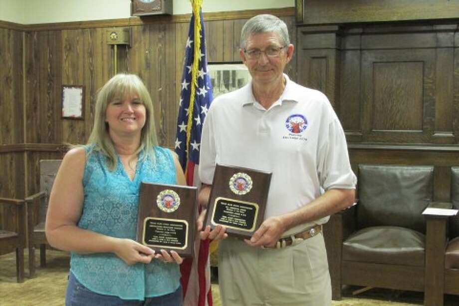 Courtesy PhotoTexas Elks State Association Convention was held in Addison on June 5-9. Shown are Plainview Elks Lodge Secretary Angela Walker and Past Exalted Ruler Michael Carroll. The Plainview Lodge won first place in the Americanism Brochure Contest which showcases the many programs that the lodge is involved in throughout the community. They also won first place in their division for All American Lodge. To get this honor, the Plainview Lodge had to participate in programs locally, on the state level and nationally.