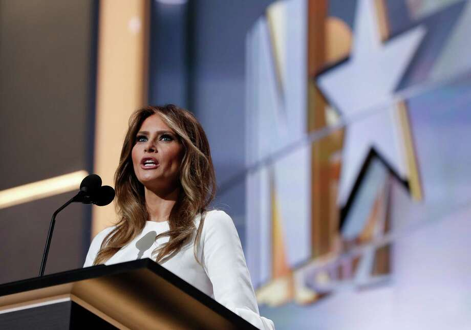 Melania Trump at the Republican National Convention. Photo: Carolyn Kaster, STF / Copyright 2016 The Associated Press. All rights reserved. This material may not be published, broadcast, rewritten or redistribu