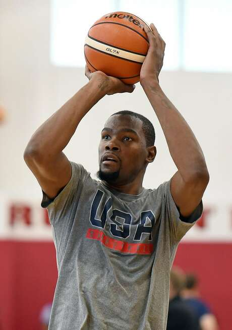 Kevin Durant plays in Oakland with Team USA on Tuesday. Photo: Ethan Miller, Getty Images