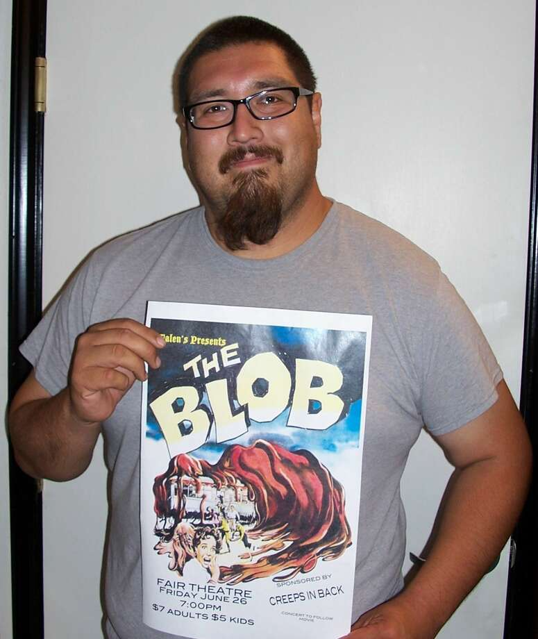 """M. Shane Harrell/Courtesy Photo Local artist Ernest Rodriguez has been working hard to coordinate a classic American film festival series for Plainview audiences. Following the success of a showing of """"Night of the Living Dead"""" a few weeks ago, Rodriguez has partnered with Creeps in Back to bring """"The Blob,"""" the second in the series, to the Fair Theatre on June 26."""