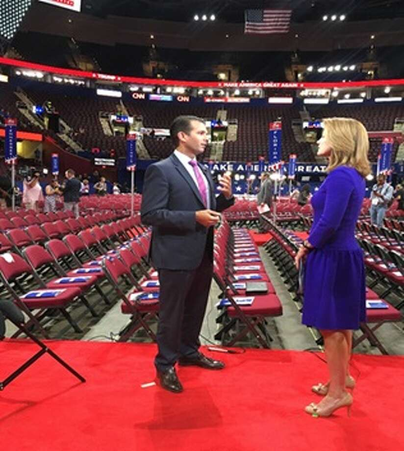 Donald Trump Jr. opens up to CBS News' Norah O'Donnell about Melania plagiarism uproar. Photo: CBS New