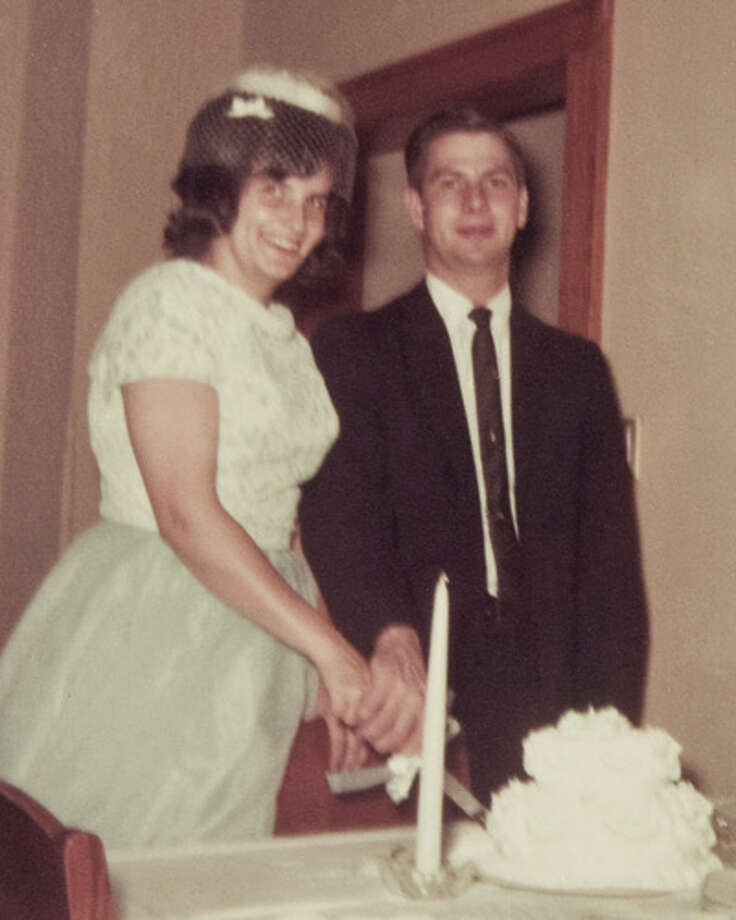 BEFORE: Elvira and David Wiggs on their wedding day