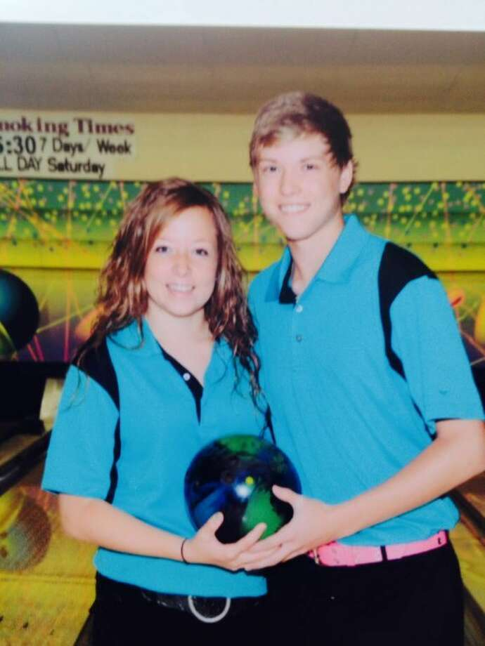 Plainview's Melissa Waters teamed up with Zack Wojciechowski of Lubbock recently to take the 2014 USBC Texas State Youth Championship in Houston. Photo: Courtesy Photo