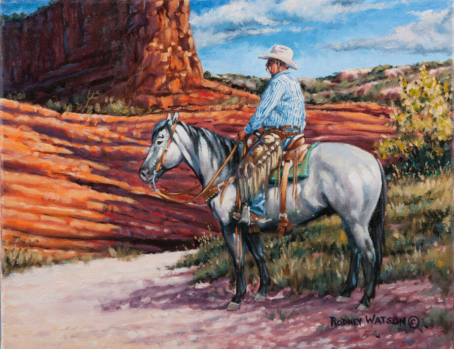 """Morning Air"" by Rodney Watson Artist Rodney Watson is inspired by Western themes and loves the colors of the landscape along the Caprock."