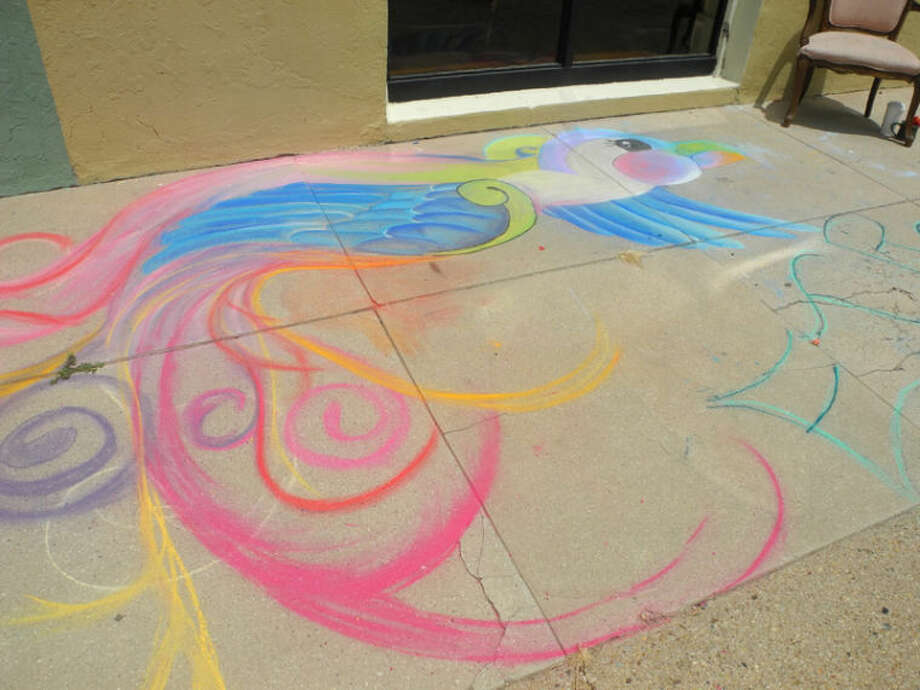 Chalk art was seen outside Talen's Artist Supplies & Gallery, 101 East 7th St., Plainview, Saturday. A chalk art contest will be part of Artwalk Squared on Friday, July 25. Photo: Gail M. Williams | Plainview Herald