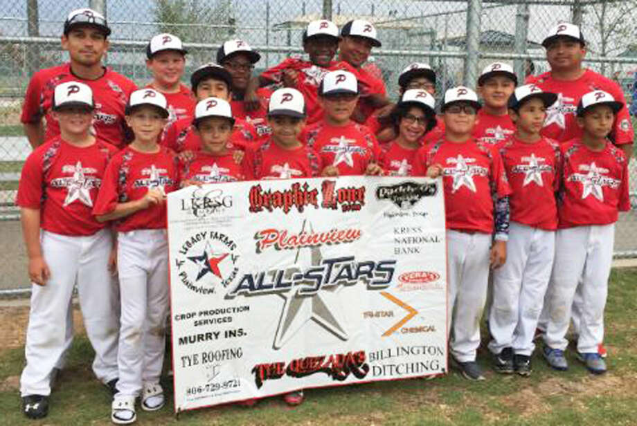 The Plainview 9-10-year-old baseball all-star team finished second in the state tournament earlier this week and qualified for the Southwest Regional, which begins next Friday in Columbus, Tex., in the Houston area. Photo: Courtesy Photo