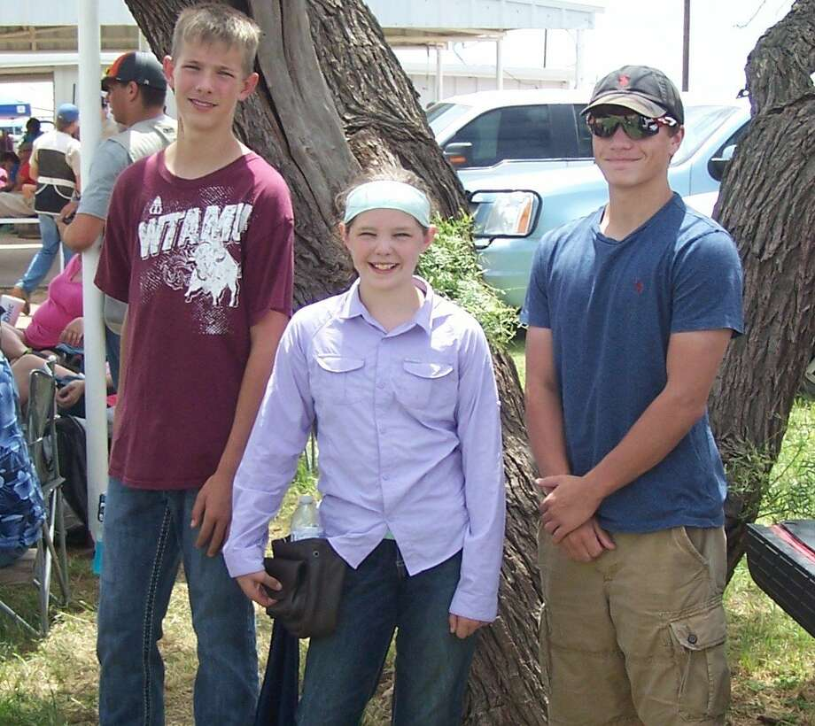 Courtesy Photo Floyd County 4-H'ers competing in the District 2 Trap and Skeet match on June 27-28, include Mason Esty, Tyann Phillips and Konner Smith.