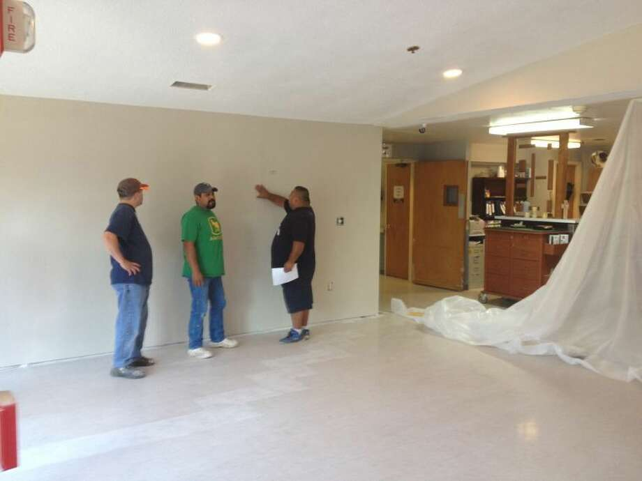 Courtesy PhotoExtensive renovations along with new ownership and management is quickly transforming the former Legends of the Plains nursing home into the vibrant new Hale Center Health and Rehabilitation. Some of the renovation includes a complete makeover of the lobby.