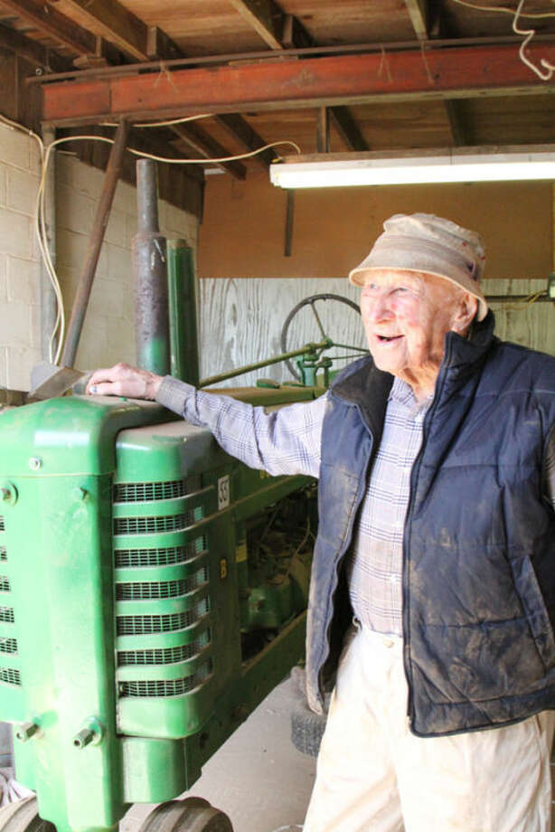 Elmo Snelling, longtime local farmer, turns 100. Photo: Jessica Domel | Texas Farm Bureau