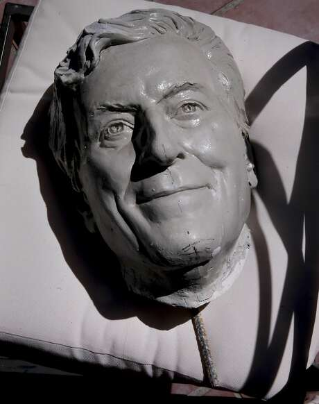 An early clay form of Tony Bennett Bennett created by sculptor Bruce Wolfe in his home studio in Oakland. Photo: Michael Macor, The Chronicle