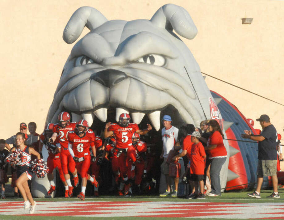 The Big Bulldog will be ready to spit out football players when Plainview opens its regular season Aug. 28 in Canyon against Randall. The Dogs' first home game will be Sept. 12 against Canyon High. Photo: Skip Leon/Plainview Herald