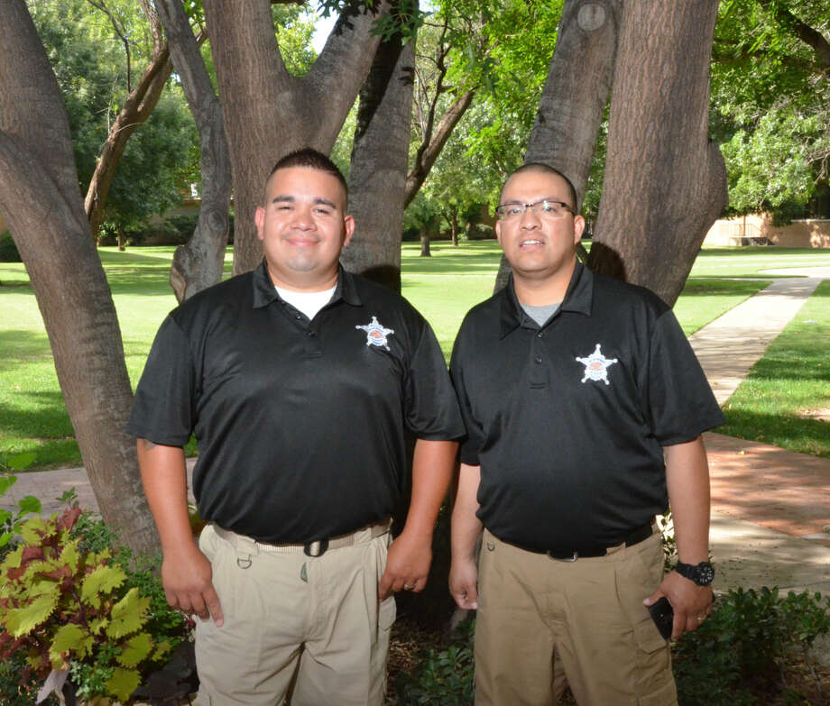 Wes Underwood/South Plains College South Plains College Evening Police Academy graduates from Plainview are Ruben Ramirez Jr., left, and Mike J. Marquez. The ceremony was hosted on July 22 in the Sundown Room of the Student Services building.
