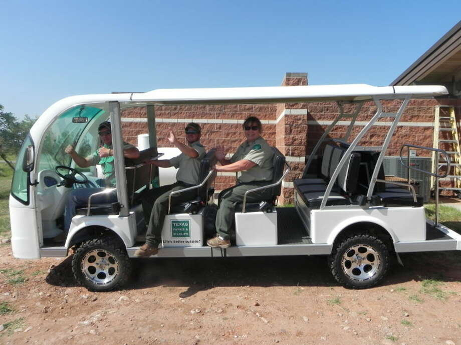Texas Parks and Wildlife Photo The new Caprock Canyons Doodlebug is an electric-powered shuttle for park visitors that will follow the same trail as the original Burlington Doodlebug passenger train from the 1930s. Photo: Picasa